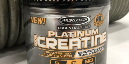 Amazon: MuscleTech Platinum Creatine Monohydrate Powder 14.1 Ounce Canister Only $3.97 Shipped