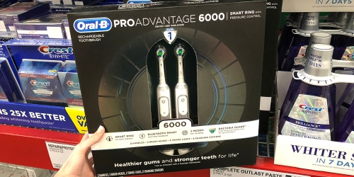 Sam's Club: TWO Oral-B ProAdvantage 6000 Power Rechargeable Toothbrushes Only $129.98