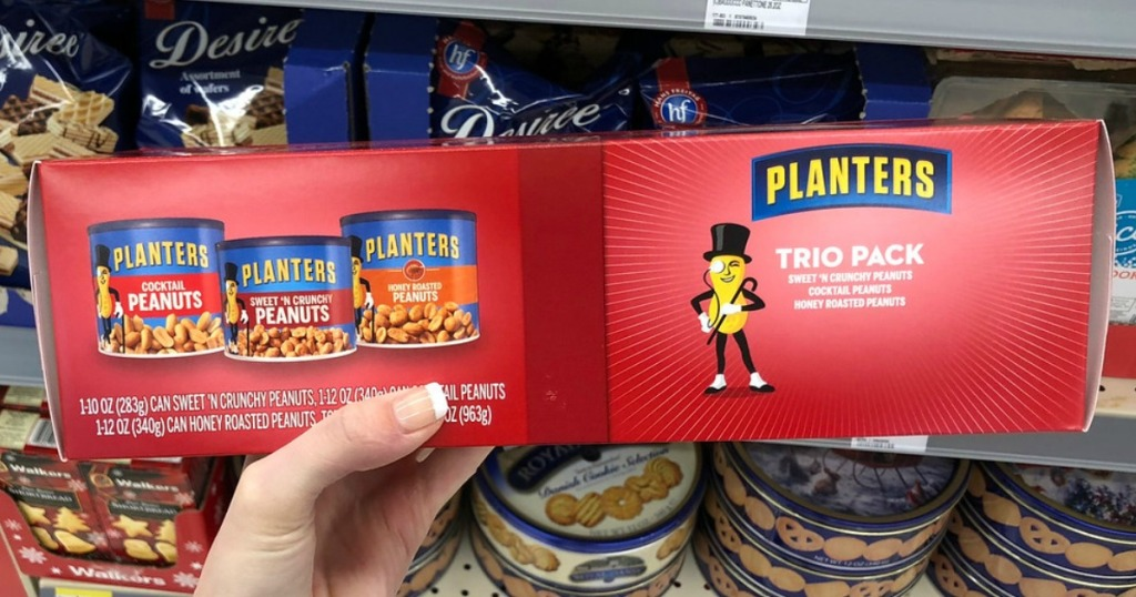 Christmas Planters Peanuts.Planters Holiday Nut Trio Possibly Just 5 99 At Walgreens