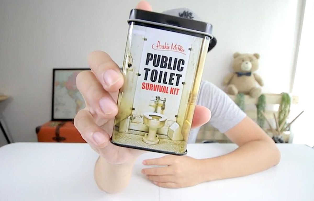 White Elephant Gifts, Gag Gifts, Funny Gift Ideas – public toilet survival kit