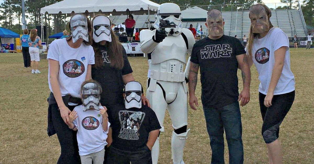 relay for life run in star wars costumes