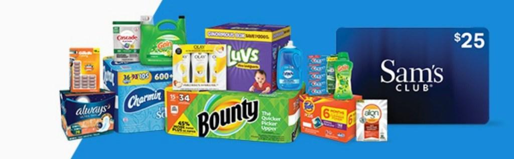 Sams Club Promotion >> Free 25 Sam S Club Egift Card W 100 Participating Products