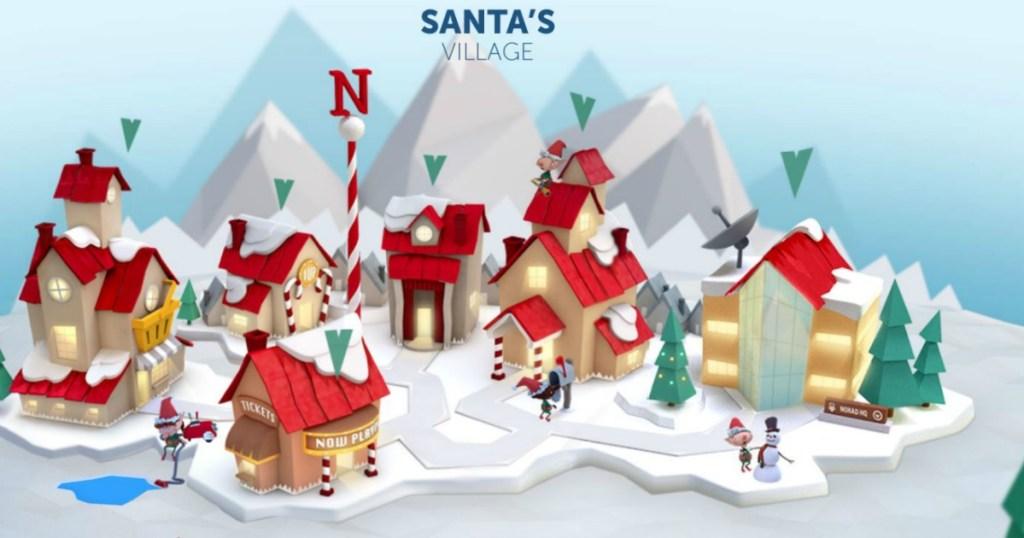 Santa's village from NORAD Santa Tracking website