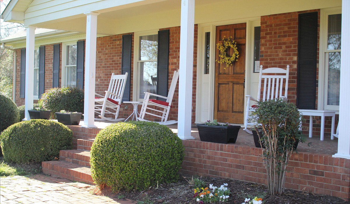 Reader Melissa gives back to this Huntersville Serenity House - pictured front porch