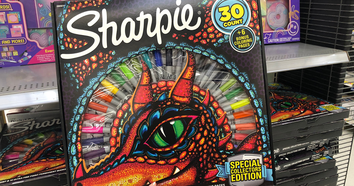 Sharpie 30 Count Permanent Markers Amp Coloring Pages Set