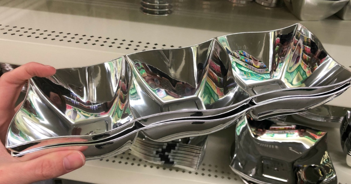 silver serving dish dollar tree