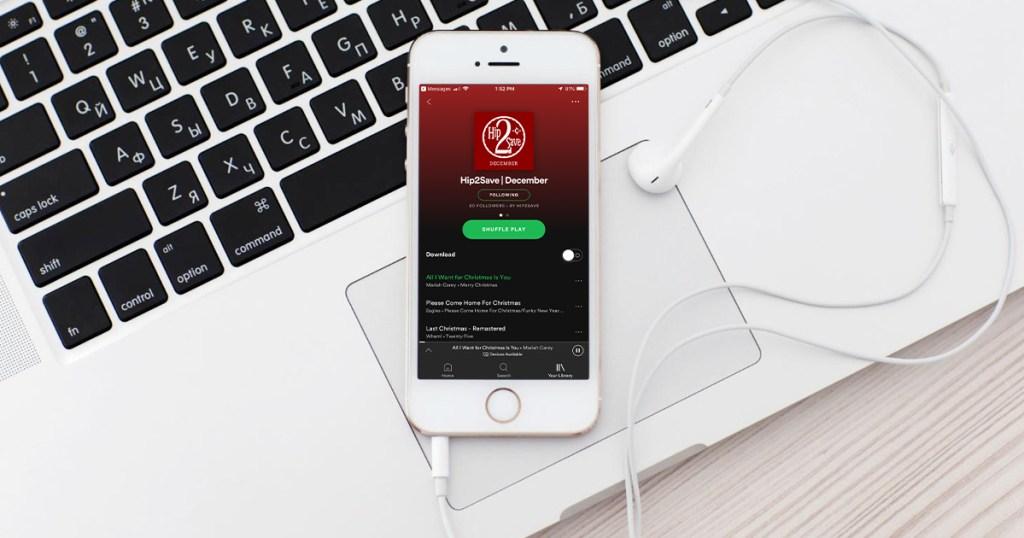 spotify playlist on iphone