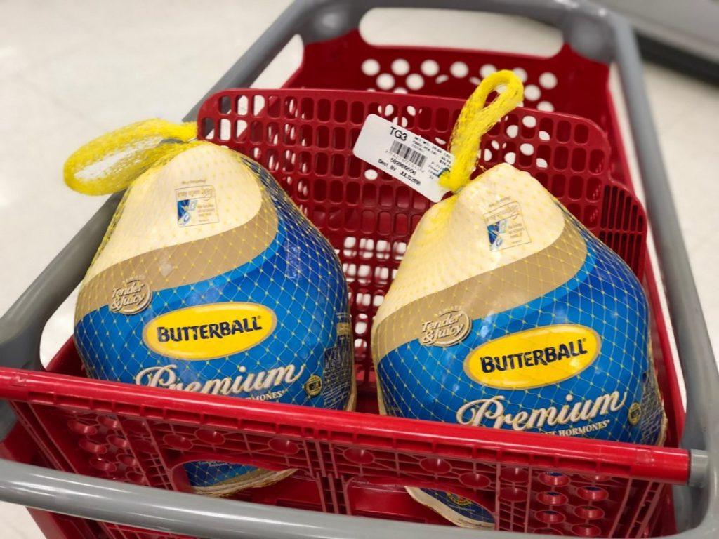butterball turkey in cart