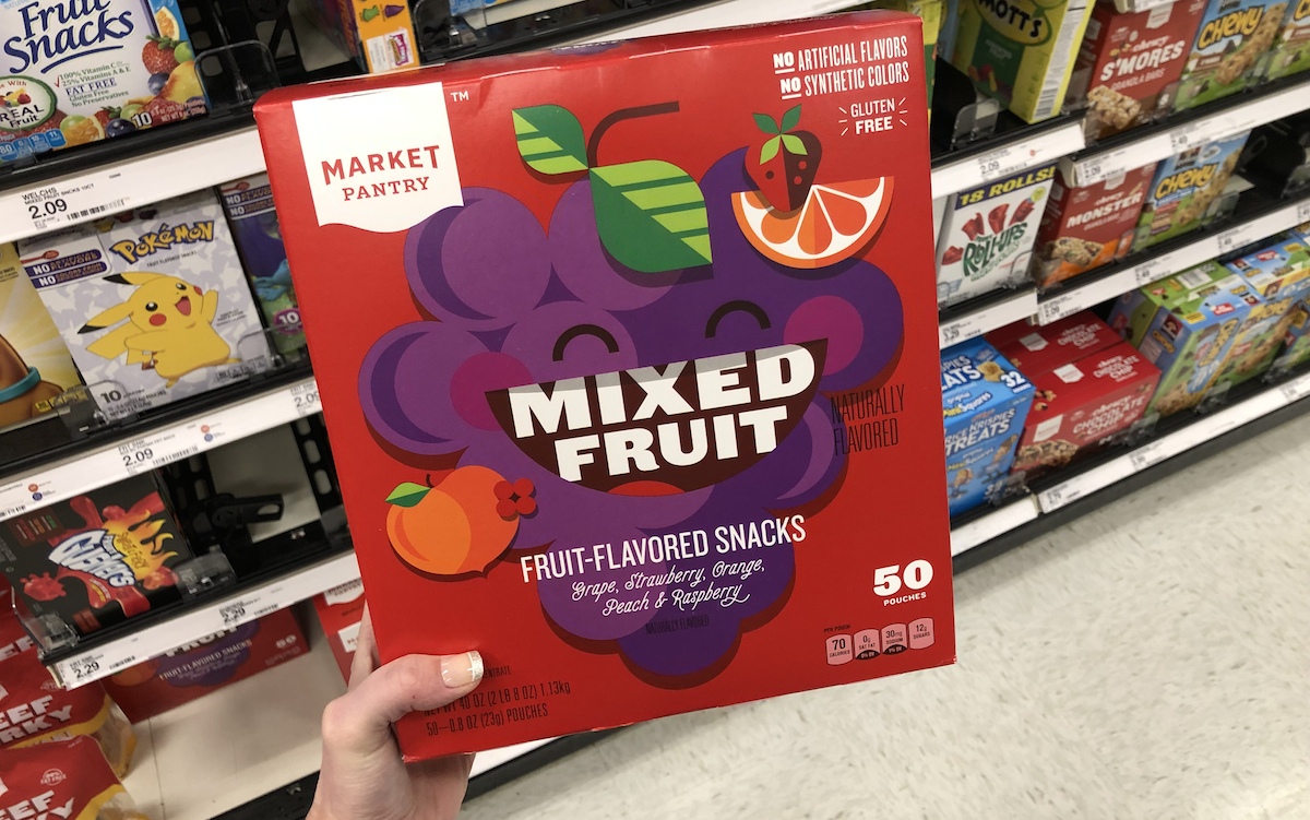 target brands cheaper than name brands – target market pantry mixed fruit snacks