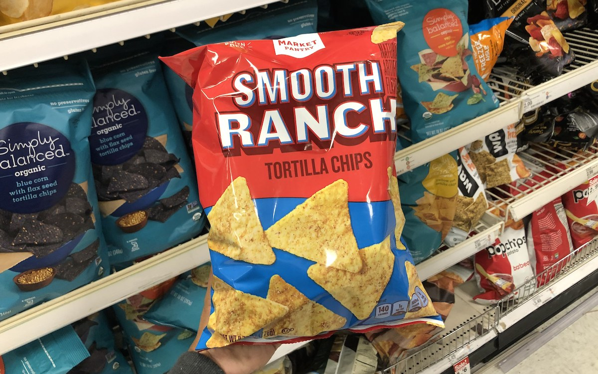 target brands cheaper than name brands – target market pantry smooth ranch tortilla chips