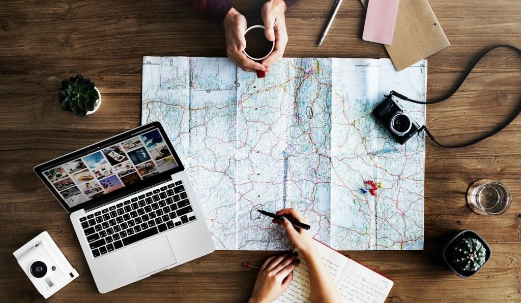 travel map for planning international trip