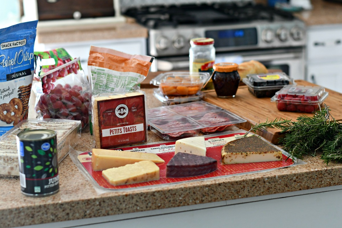 best easy charcuterie board – ingredients in packaging from the store