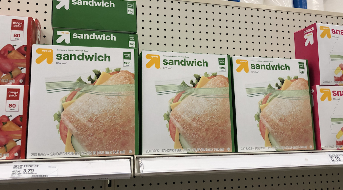 target brands cheaper than name brands – up-and-up sandwich plastic bags target