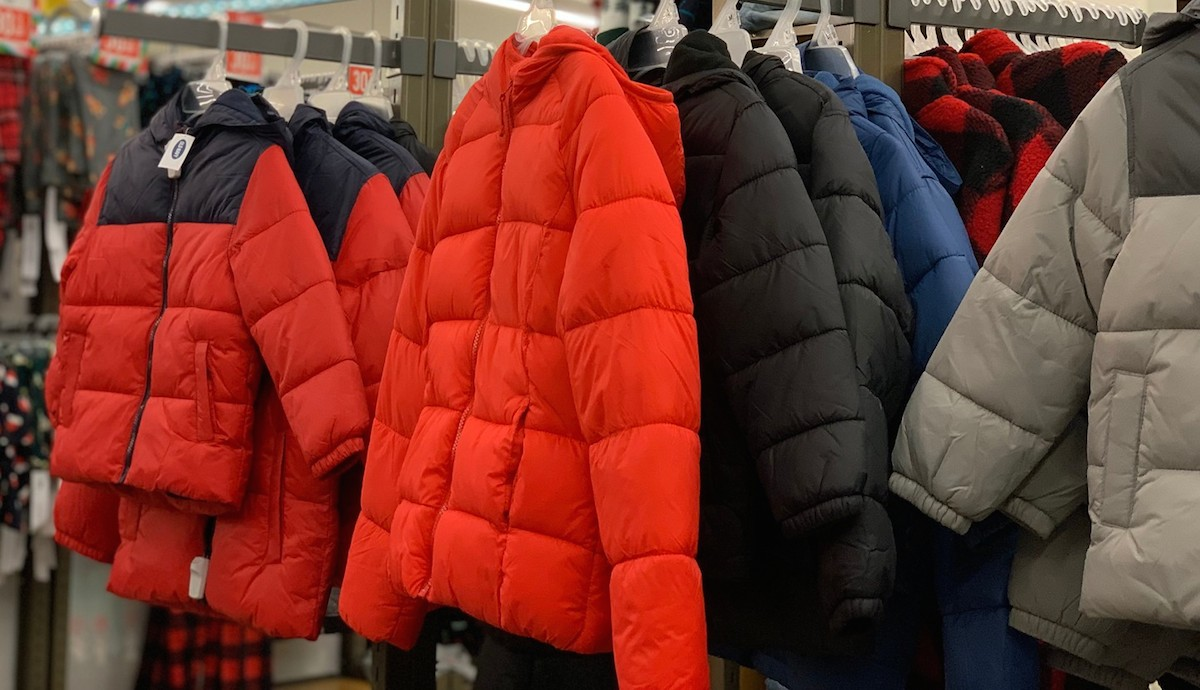 winter coats in the store