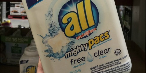 Amazon: TWO All Mighty Pacs Free & Clear 67-Count Tubs Only $14.95 Shipped & More