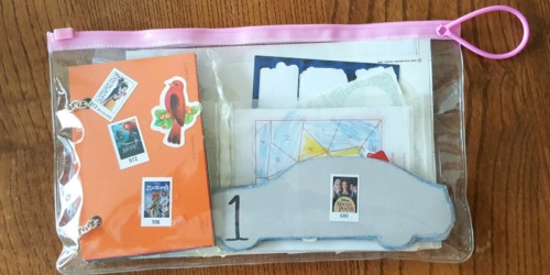 Create Kid's Activity Bags Using Free Dentist Goody Bags, School Papers, & More