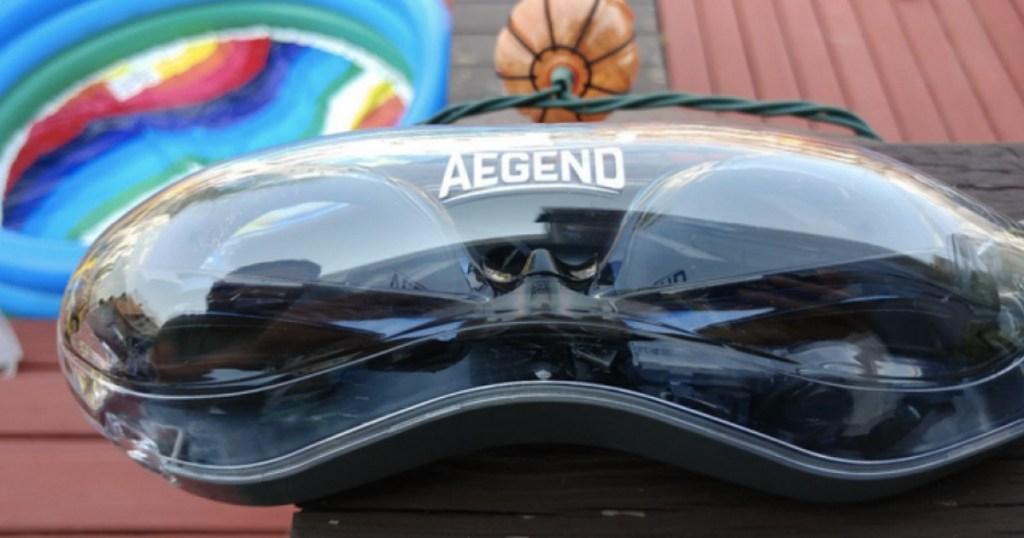 pair of aegend swim goggles in case