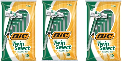 BIC Twin Select Men's Disposable Razors 30-Count Only $8.64 Shipped on Amazon (Just 29¢ Per Razor)
