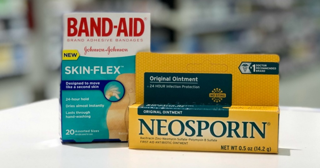 band aid and anti itch products on shelf