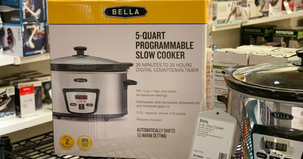 box of bella 5 quart slow cooker in store
