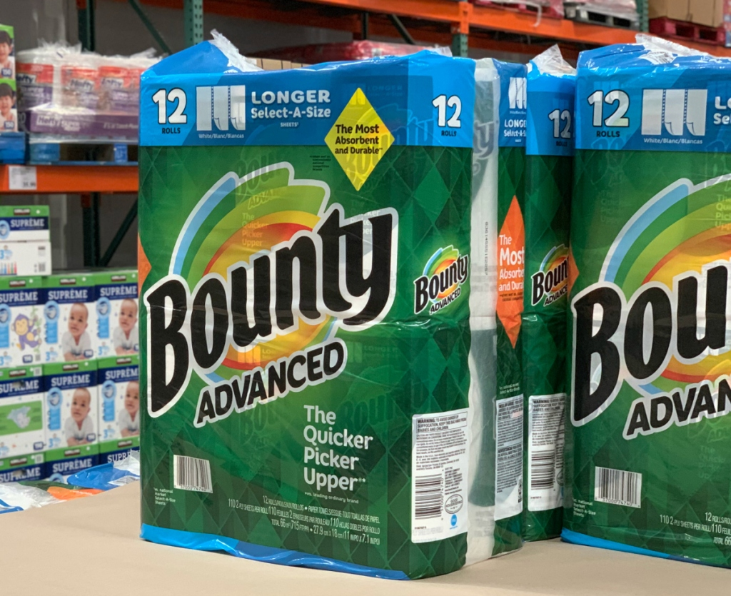 Bounty paper towels at Costco