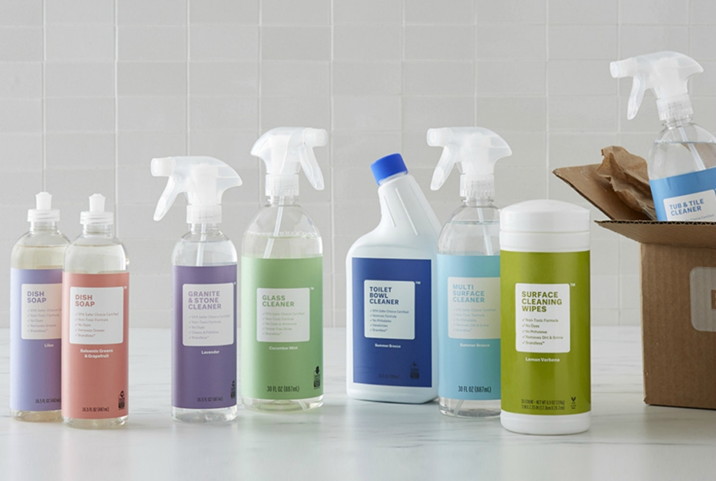 Brandless cleaning supplies