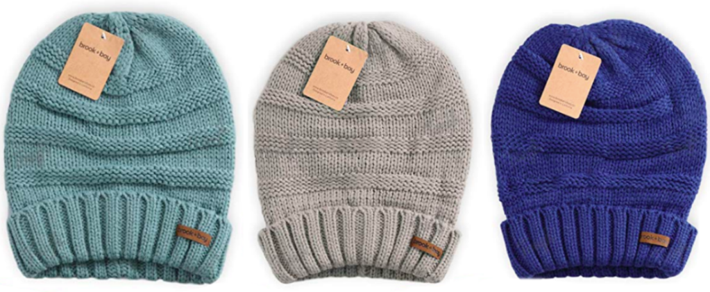 Hop on over to Amazon where they are offering up these Brook + Bay Slouchy  Cable Knit Cuff Beanies for just  5.97 shipped after you enter the promo  code ... a518d435b426