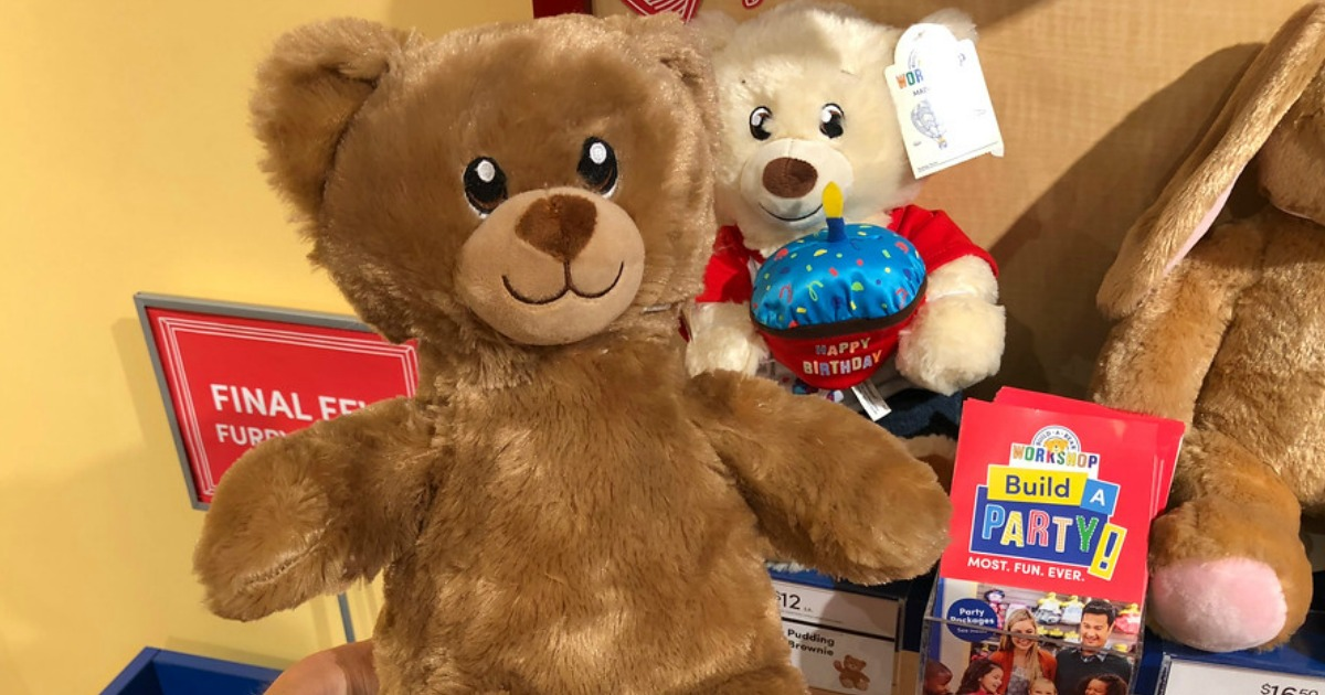 build-a-bear furry friends you can choose to stuff at the sale