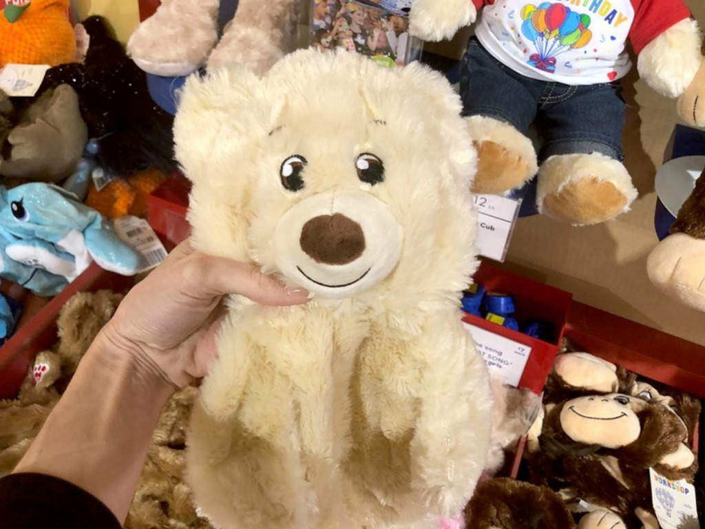 unstuffed tan bear at build-a-bear workshop