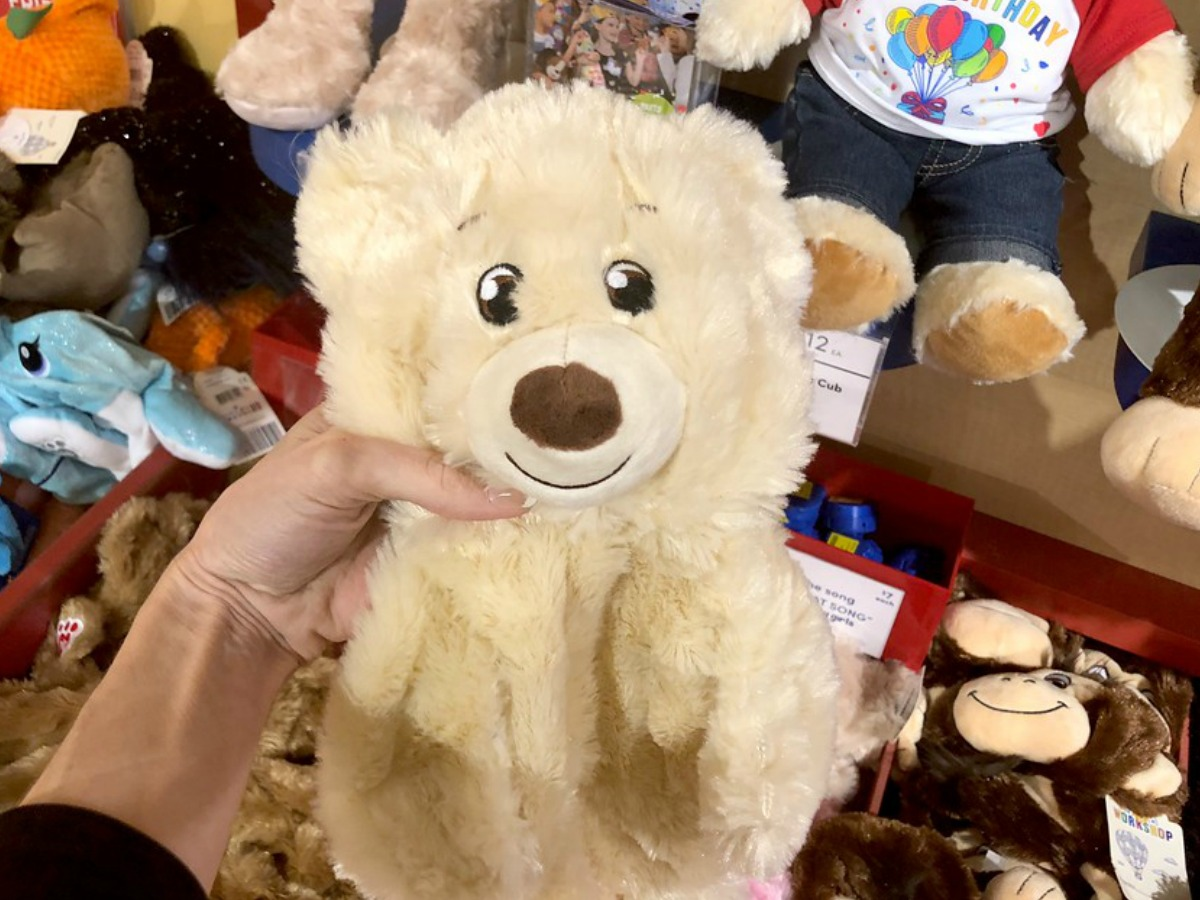 build-a-bear furry friend (light brown bear) you can choose to stuff at the sale