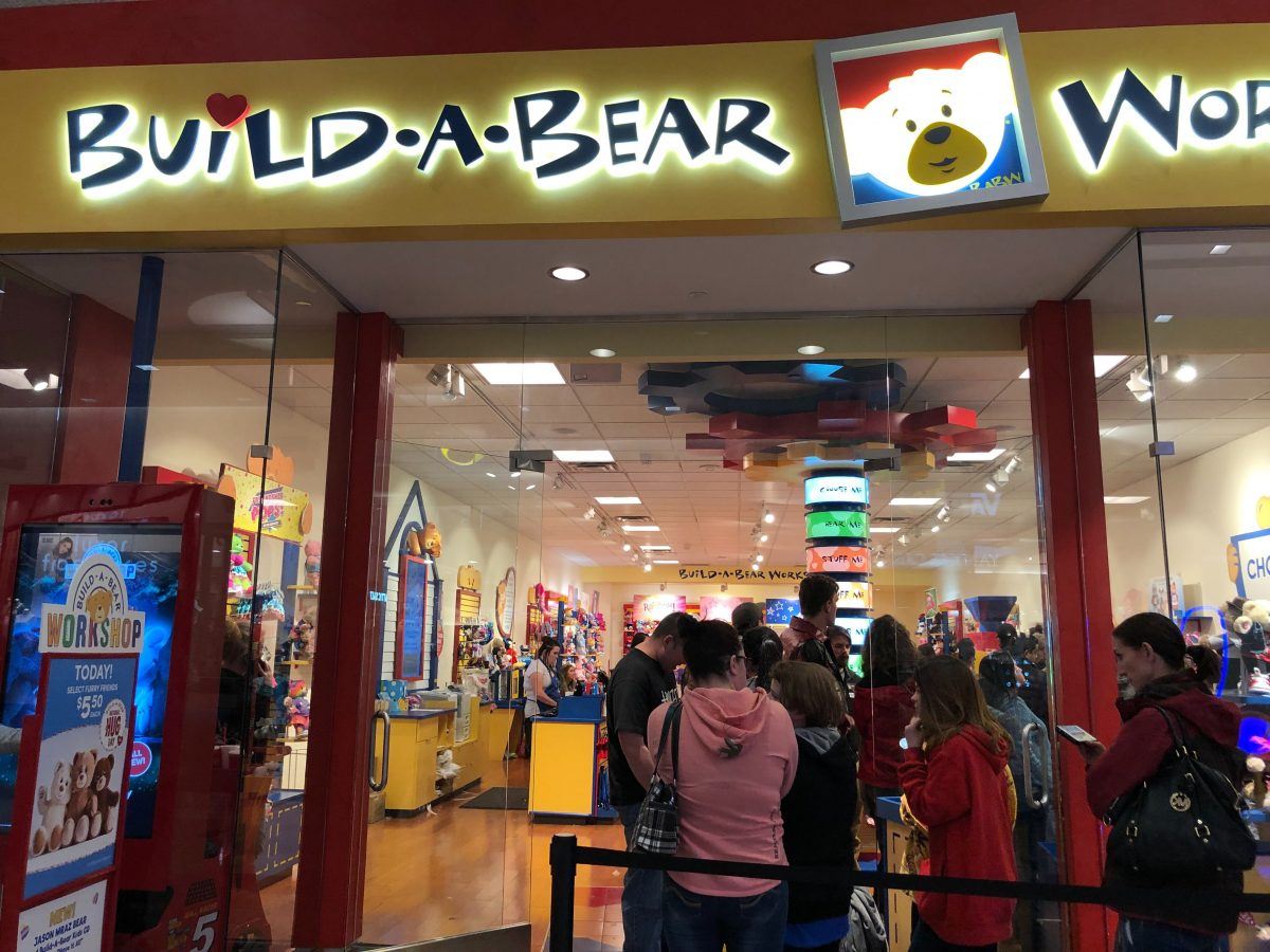 build-a-bear furry friends – line outside of the store waiting for the deal