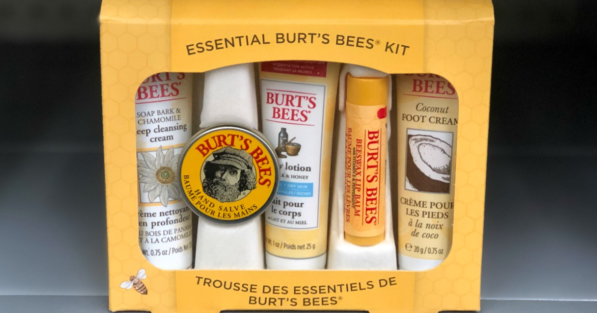 burt's bees gift set on shelf