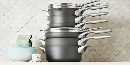 Calphalon 10-Piece Hard Anodized Stackable Cookware Set, 7-Piece Utensil Set & More Only $295 Shipped (Regularly $590)