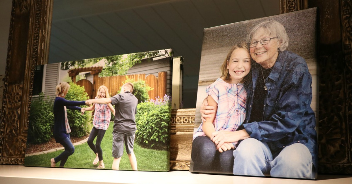 canvas photo prints featuring female family members
