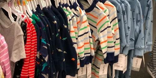 Carter's Baby & Toddler Pajamas from $4 on Kohls.com (Regularly $20+)