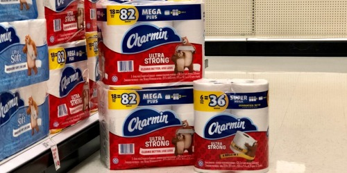 42 Charmin MEGA Plus Toilet Paper Rolls as Low as $30 After Target Gift Card (Just 72¢ Per HUGE Roll)