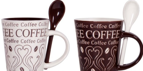 FOUR Coffee Mug & Spoon Sets Only $9.59 at Bed Bath & Beyond