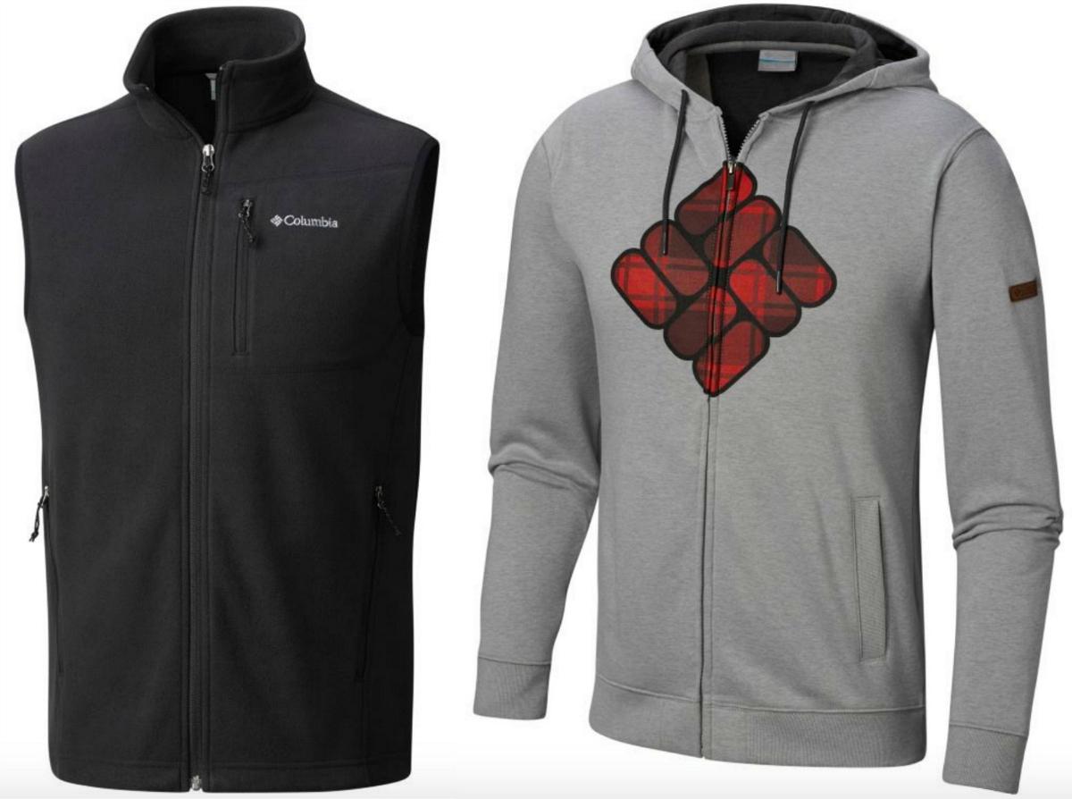 Columbia Men's vest and hoodie