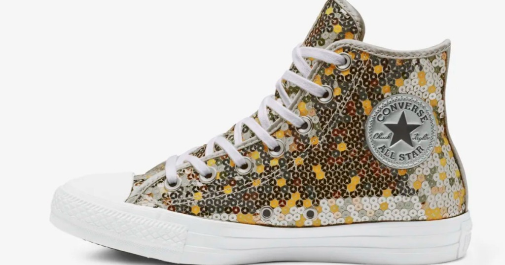 Converse Chuck Taylor All Star Holiday Scene Sequin High Tops  49.97  (regularly  70) Use promo code THIRTY (30% off) Shipping is free for Nike  Rewards ... ade09ccf1d09