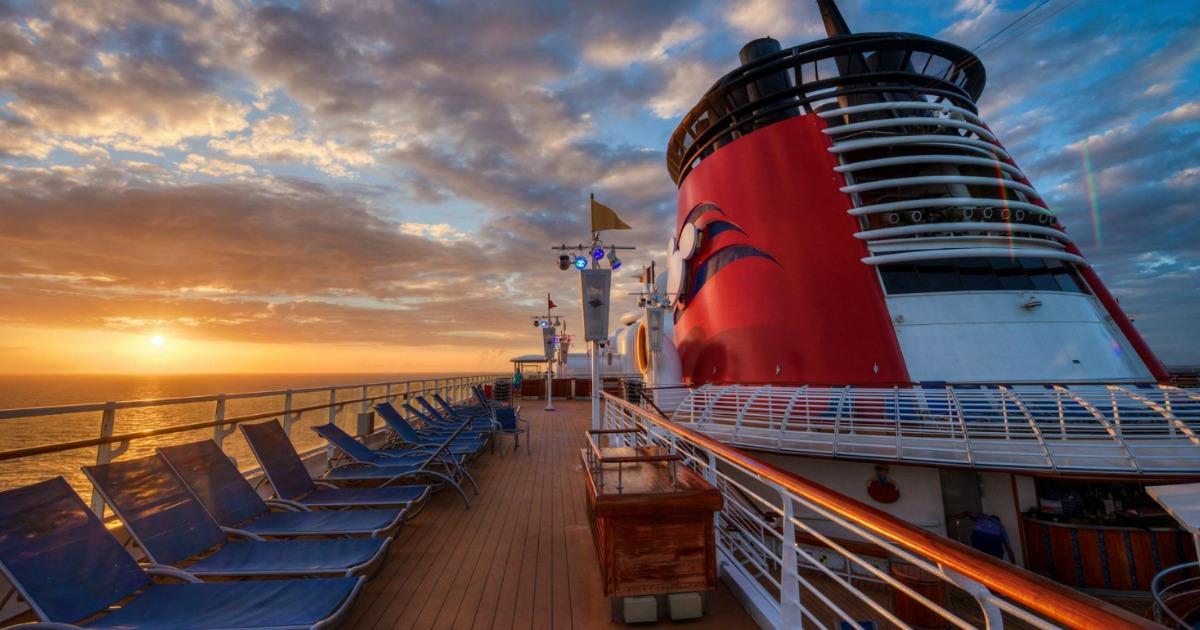 Disney Cruise Line at sunset