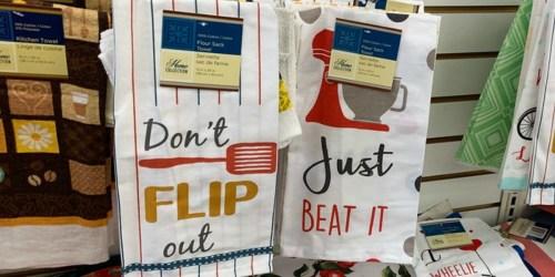 Fun Kitchen Towels Just $1 at Dollar Tree