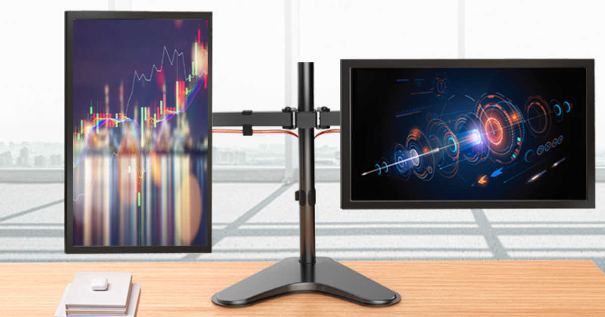 Amazon Swivel Amp Tilt Dual Monitor Stand Only 20 49