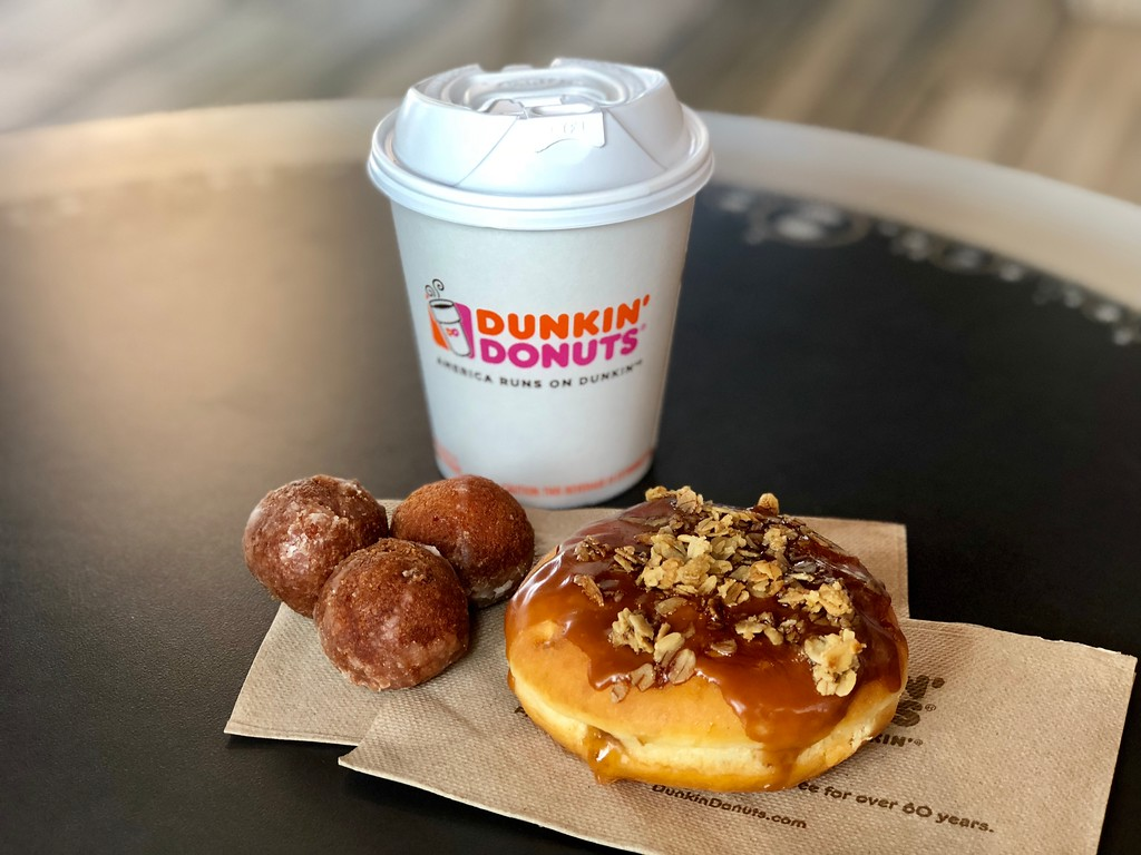 Dunkin Donuts Coffee with donuts