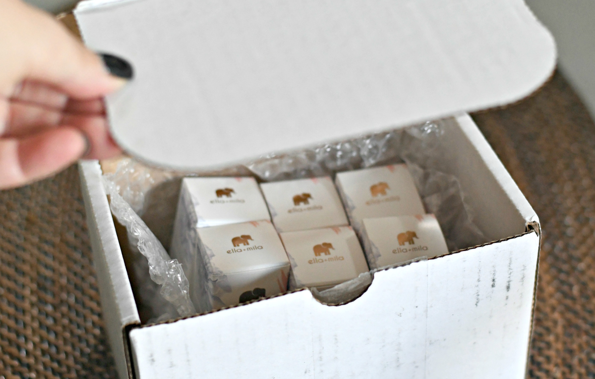 Ella+Mila Box in the mail