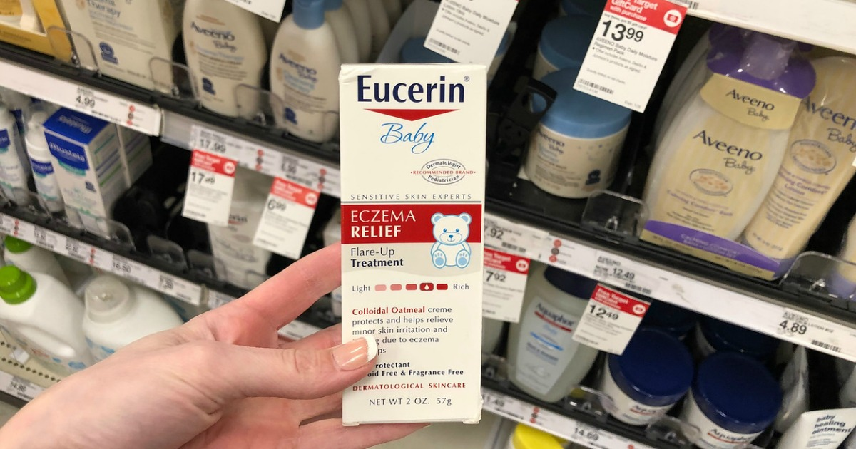 image relating to Eucerin Printable Coupons identified as Significant Charge $3/1 Eucerin Lotion, Product or Kid Substance Coupon