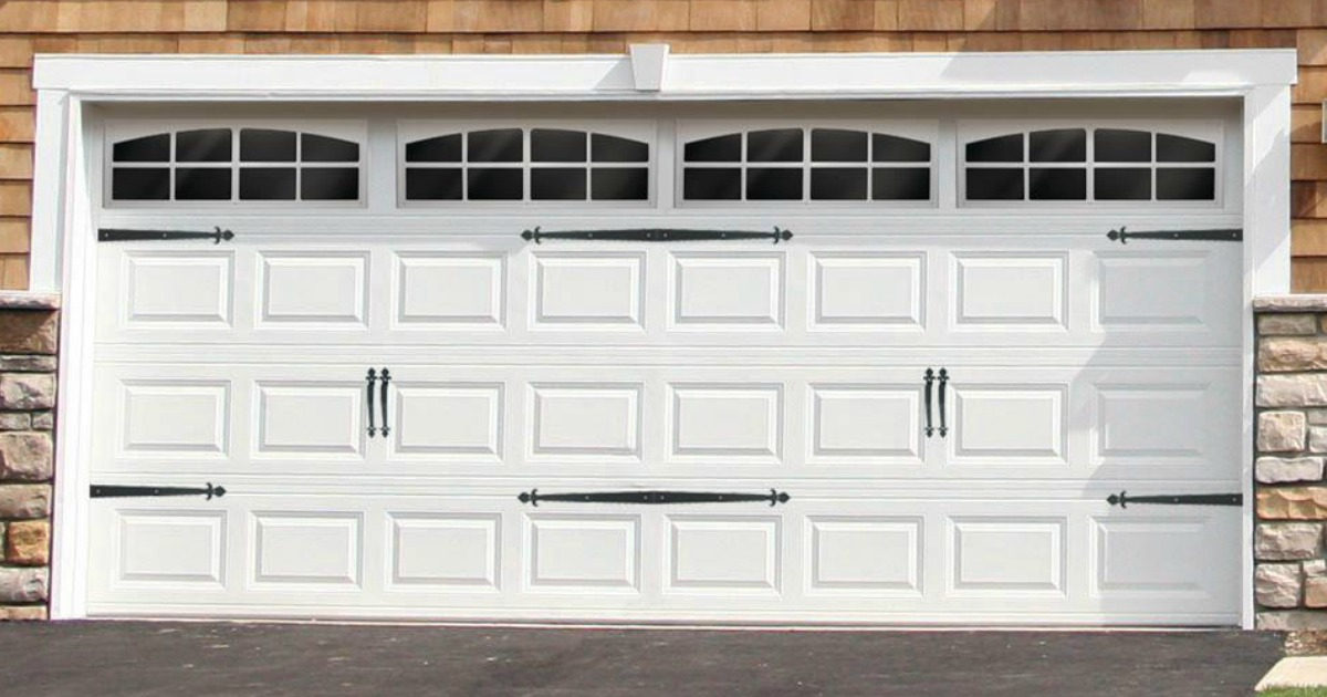 """Hardware Garage Door Decorative Hinge 16/"""" Black"""