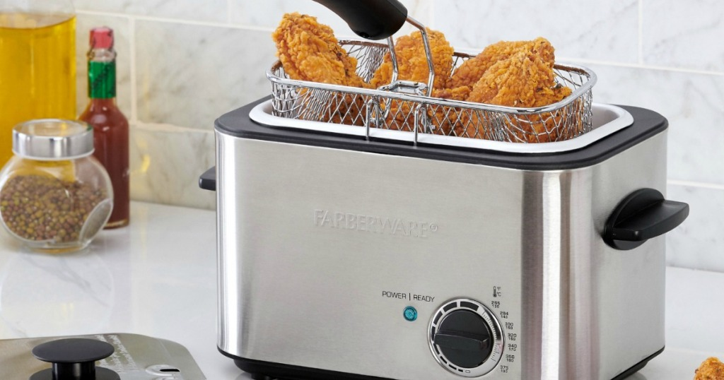 Farberware 1 1l Stainless Steel Deep Fryer Only 19 77 Regularly