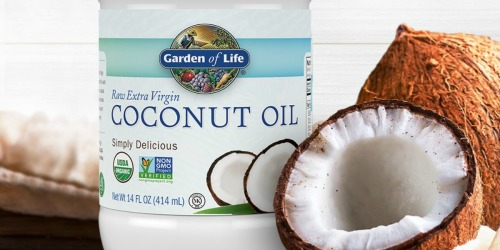 Garden of Life Organic Coconut Oil 14oz Only $4.78 Shipped on Amazon (Regularly $10) + More