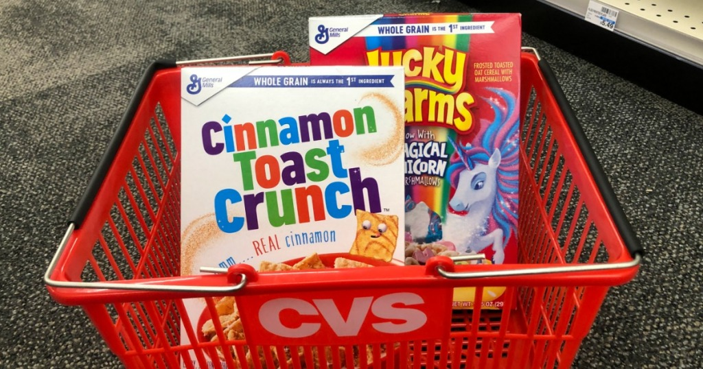 cereal in a CVS basket