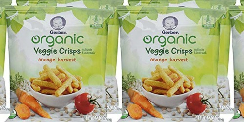Amazon: TWO Gerber Graduates Organic Veggie Crisps 5-Count Packs Only $5 Shipped
